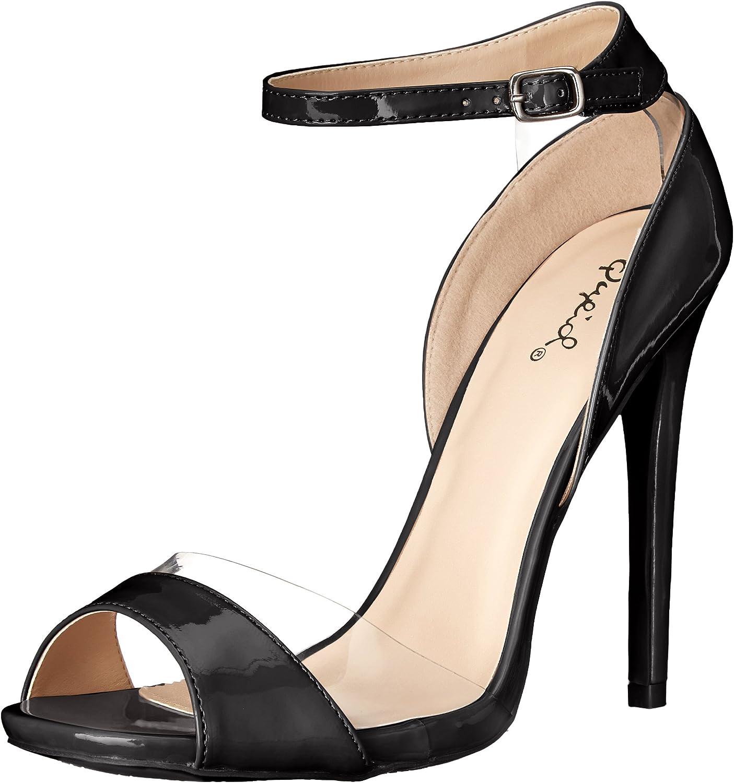 Qupid Kvinnors diamant 11 Dress Dress Dress Sandal  köp bäst