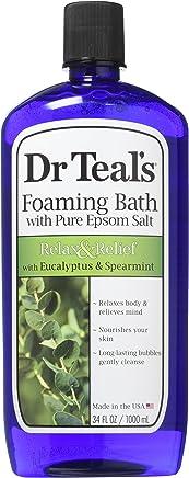 Dr Teals Foaming Bath (Epsom Salt), Eucalyptus Spearmint, 34 Fluid Ounce