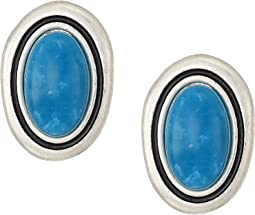 Large Stone Clip-On Earrings