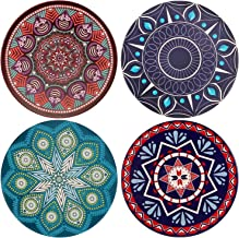 Absorbent Ceramic Stone Coasters for Drinks,Cute Coffee Mats with Cork Base,Prevent Furniture from Dirty and Scratched,Absorbing Hot/Cold Water Rings to Keep Your Bar/Table Clean,4 Diameter
