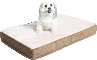 Milliard Quilted Padded Orthopedic Dog Bed, Egg Crate Foam with Plush Pillow Top Washable Cover (Fits Standard Crate)