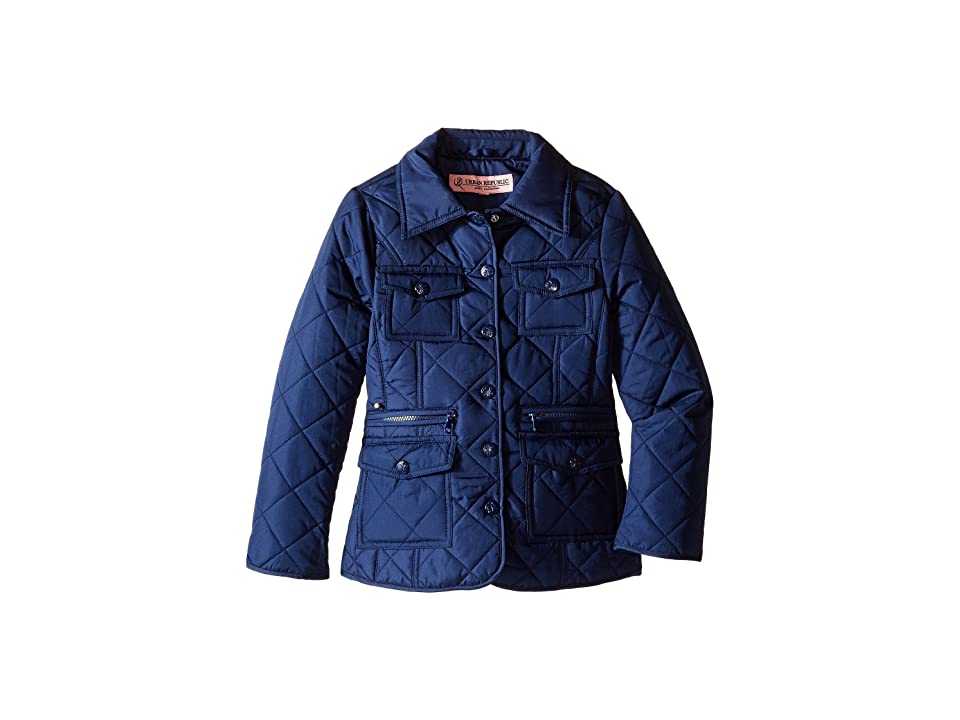 Urban Republic Kids Quilted Thinfill Jacket (Little Kids/Big Kids) (Navy) Girl