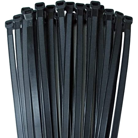 Extra Heavy Duty Cable Zip Ties 175 LB Tensile Strength 18 Inch 1000 Case, UV Black Durable Strong Nylon Tie wraps