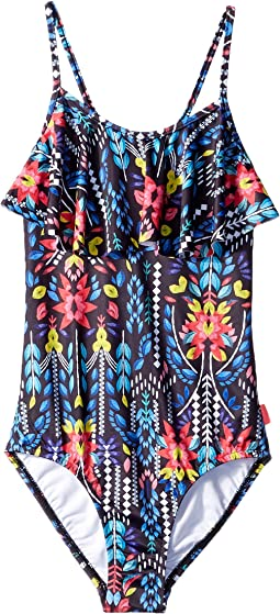 Seafolly Kids - Mexicana Fiesta Ruffle Tank One-Piece (Big Kids)