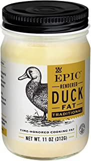 Epic Provisions EPIC Duck Fat Keto Friendly, Whole30, oz Jar EPIC Duck Fat, Keto Consumer Friendly, Whole30, 11 Ounce
