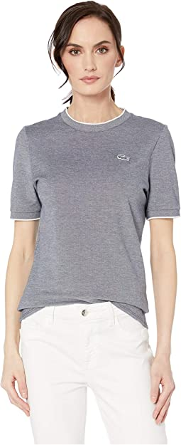 Short Sleeve Caviar Pique Crew Neck T-Shirt