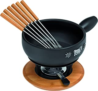 "Kuhn Rikon Alpina Induction Fondue Set, 9"", Black"