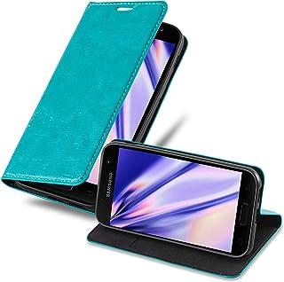 Cadorabo Hülle für Samsung Galaxy A3 2017 in Petrol TÜRKIS   Handyhülle mit Magnetverschluss, Standfunktion und Kartenfach   Case Cover Schutzhülle Etui Tasche Book Klapp Style