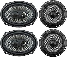 American Bass SQ 6.9 Coaxial 3 Way 6.9 Inch 20 Ounce Neodymium Swivel Tweeter Speaker and 2 Way 6.5 Inch Neodymium Swivel ... photo