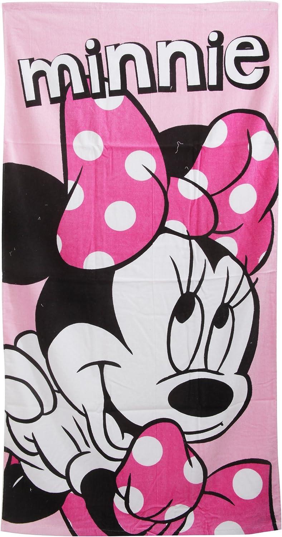 70 x 140cm Disney Minnie Mouse Childrens Girls Pink Printed Beach Towel Pink