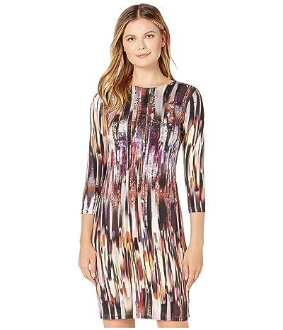 Karen Kane 3/4 Sleeve Sheath Dress (Print) Women