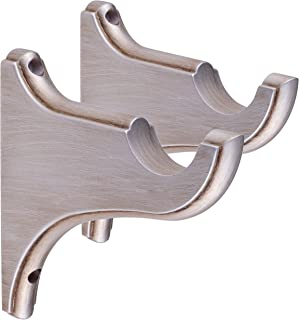 types of curtain rod brackets