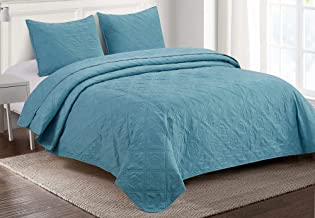 Elise & James Home Beside The Bay Quilt Set Twin Dusty Blue