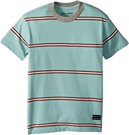 Billabong Kids Die Cut Stripe Short Sleeve Crew T-Shirt (Toddler/Little Kids)