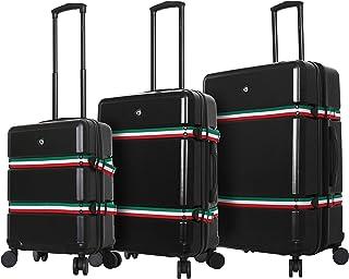 Mia Toro Italy Nastro Hard Side Spinner Luggage 3 Piece Set