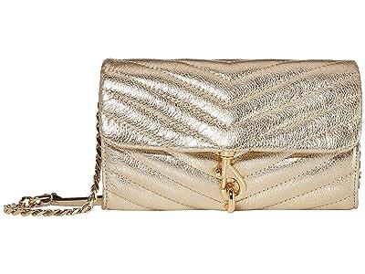 Rebecca Minkoff Edie Wallet On Chain (Gold) Handbags