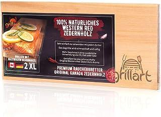 grillart 2 Pack XL Grillbretter - Zedernholzbrett zum Grillen - Räucherbretter aus Zedernholz hergestellt aus 100% natürlichem Western Red Zedernholz für einen besonderen Grillgeschmack