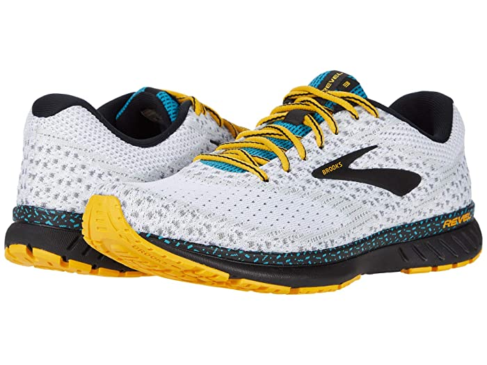 Brooks  Revel 3 (White/Black/Yellow) Mens Running Shoes