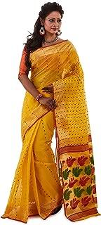 SareesofBengal Women's Cotton Jamdani Handloom Tangail Bengal Tant Saree
