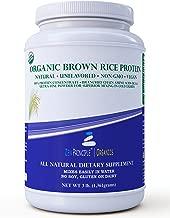 3 lb. Organic Brown Rice Protein Powder. USDA Certified. 80% Protein. No GMO, Soy or Gluten. Vegan. Full Spectrum Amino Acids (BCAA). Ultra-fine Powder Mixes Best in Drinks.