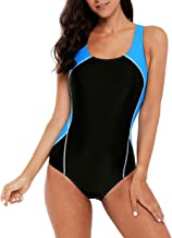beautyin Women's Athletic One Piece Swimsuits Racerback Competitive Bathing Suit