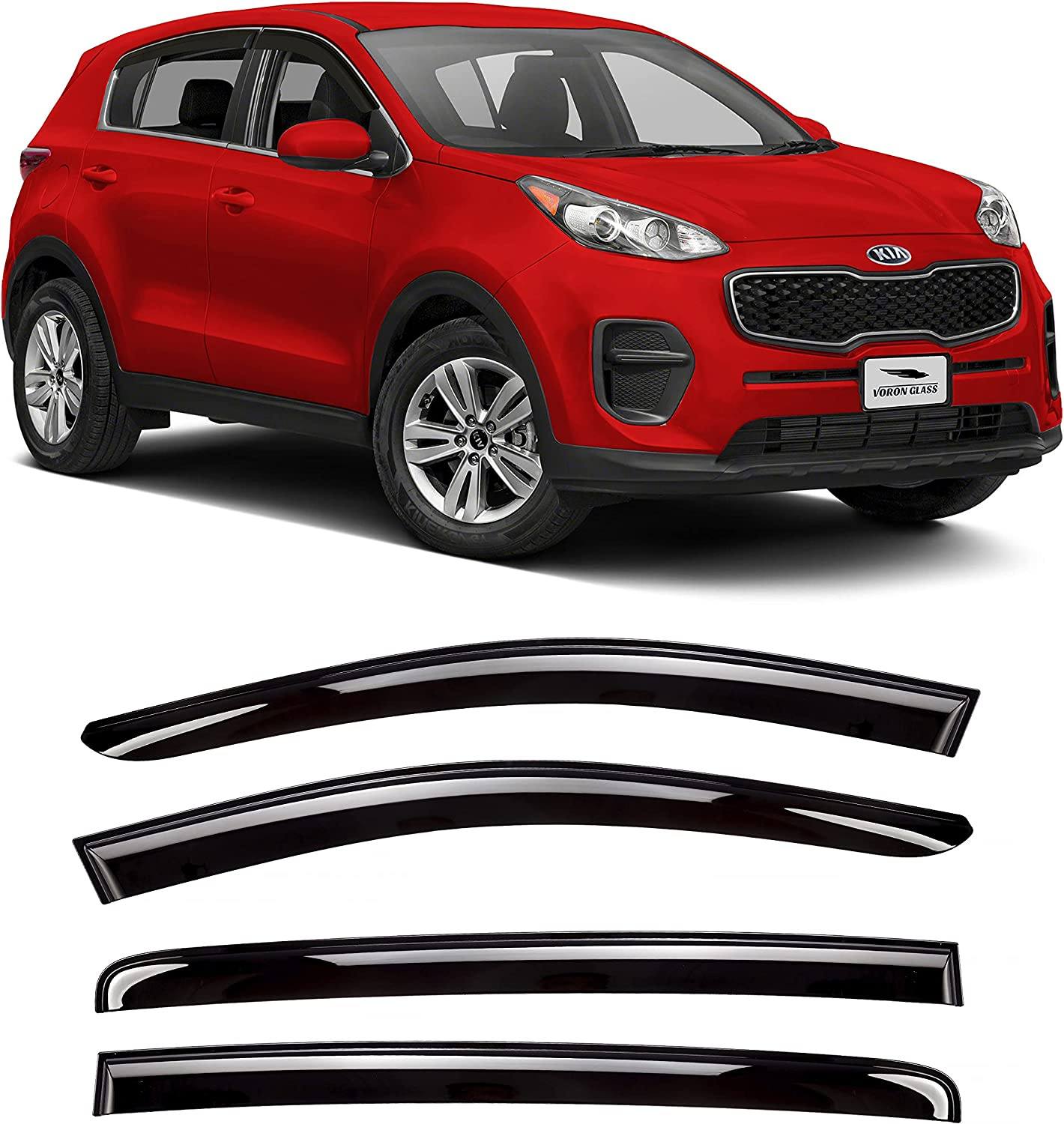 Voron Glass Tape-on Extra Durable Rain Sportage Cash special Don't miss the campaign price 2 Guards Kia for