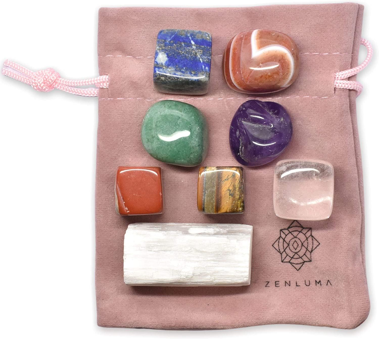 Zenluma Time sale Max 79% OFF 7 Chakra Stones Healing Crystals with Tumbled Set Sto