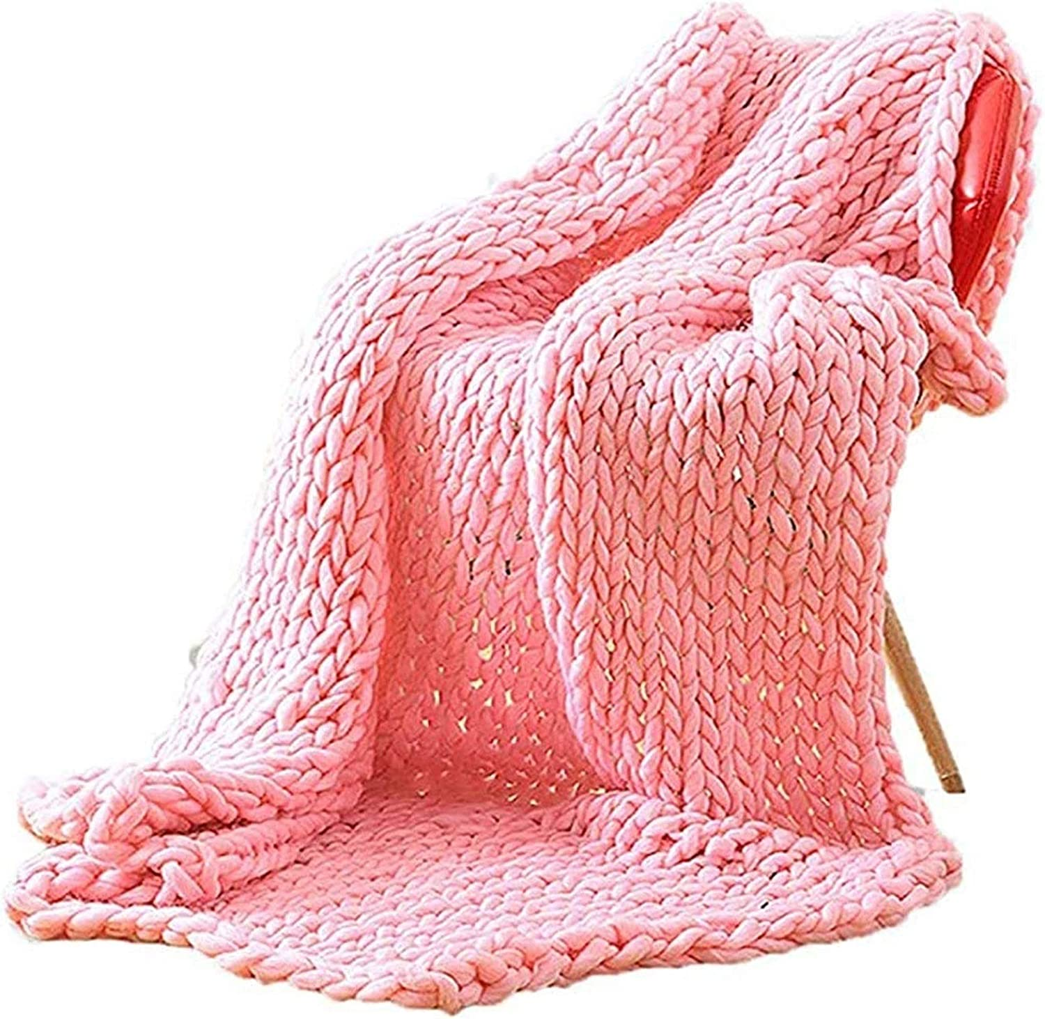 YXYH Handmade Chunky Knit Super special price Blanket Thr Large Knitting Bulky Very popular Thick
