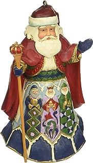 """Jim Shore Heartwood Creek Spanish Santa Stone Resin Hanging Ornament, 4.5"""""""
