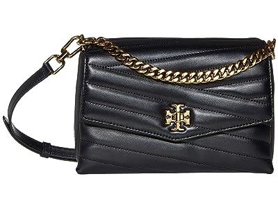 Tory Burch Kira Chevron Crossbody (Black) Handbags