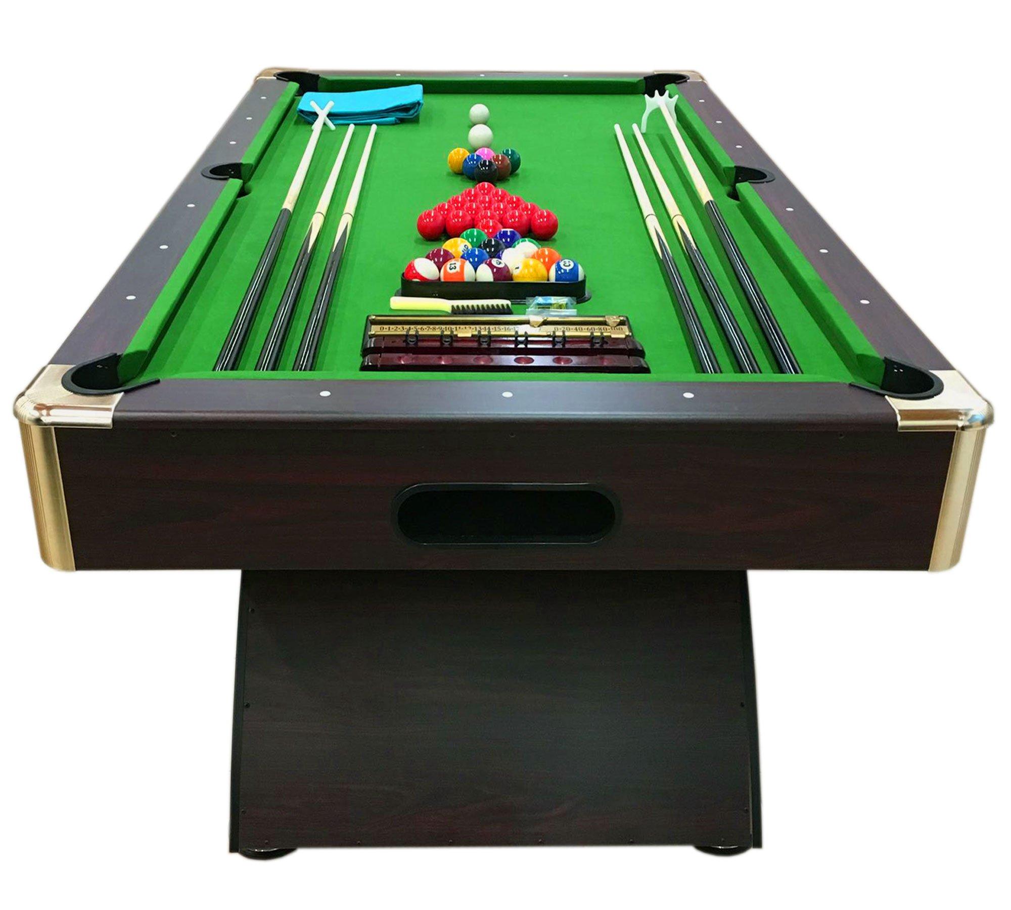 Simba Srl Mesa de Billar Juegos de Billar Pool 8 ft Carambola Full Medición 220 X 110 cm Mod. Leonida: Amazon.es: Deportes y aire libre