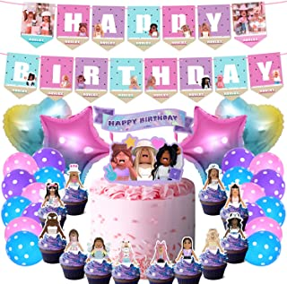 49 Girl Game Party Decorations Sandbox Game Party Supplies, Birthday Decorations, Cake Topper, Cupcake Toppers, Balloons a...
