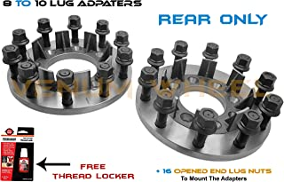 2 Pc REAR 8 To 10 Lug Adapters Hub Centric Spacers Fits 1999-2010 8x6.5