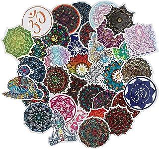 35pcs Aesthetic Waterproof Mandala Flowers Vinyl Stickers Yoga Decals for Water Bottles Wall Laptop Phone Car Scrapbooking...