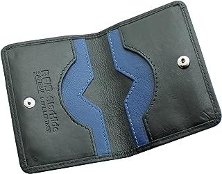 STARHIDE Men's Ultra Slim Leather RFID BLOCKING Credit Card Holder Wallet Mini Card Case Black #120