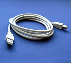 Brother HL-1440 Printer Compatible USB 2.0 Cable Cord for PC, Notebook, Macbook - 6 feet White - Bargains Depot®