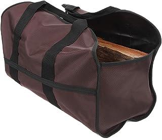 SC Lifestyle Premium Firewood Log Carrier – Wood Tote (Dark Brown)