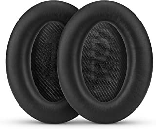 Upgraded Earpads for Bose QC35 & QC35ii Replacement Ear Pads, Faux Leather & Real Memory Foam, Long Lasting, Also Fits Qui...