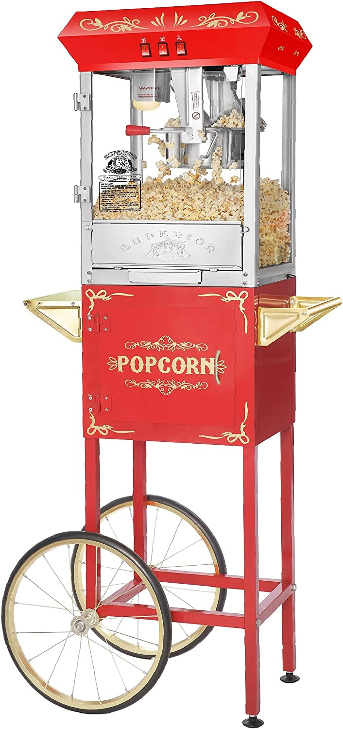 Carnival Popcorn Ranking TOP17 Popper Machine With Max 63% OFF Cart-Makes Gallon Approx. 3