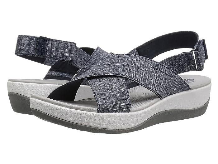 Clarks  Arla Kaydin (Navy/White Heathered Elastic) Womens Shoes
