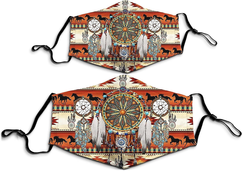1PCS Native American Dream Catcher Indigenous 3D Printed Mask Reusable Face Balaclava Bandana for Men Women