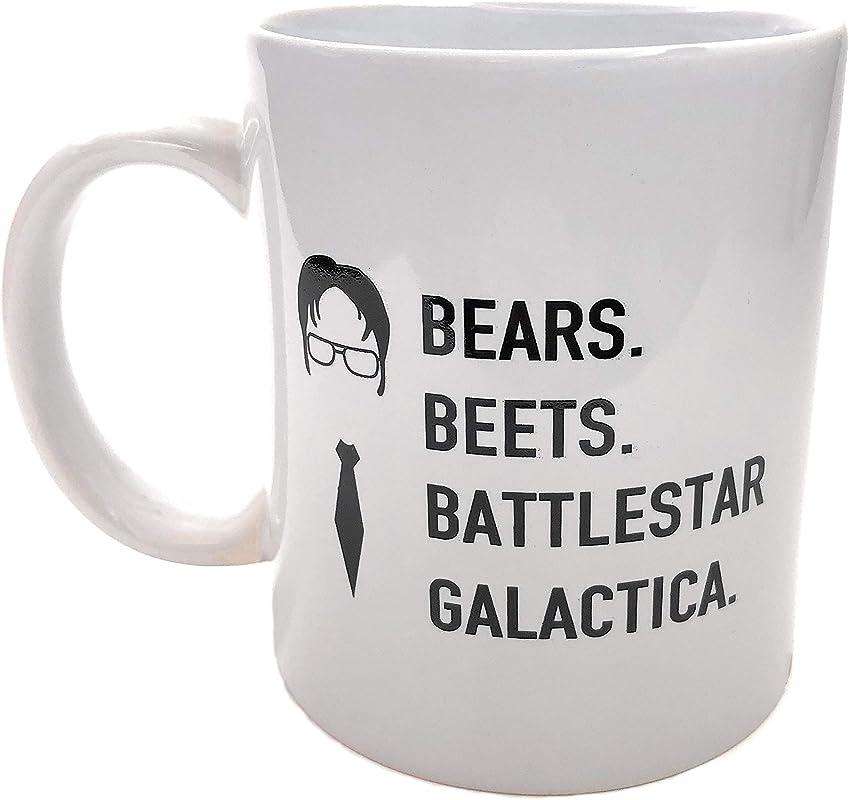 Bears Beets Battlestar Galactica Ceramic Coffee Mug 11oz Double Sided Print