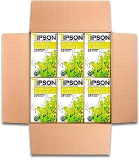 Tipson Tea Organic Moringa Green Tea with Herbal Infusions - 150 Tea Bags by MunchBox