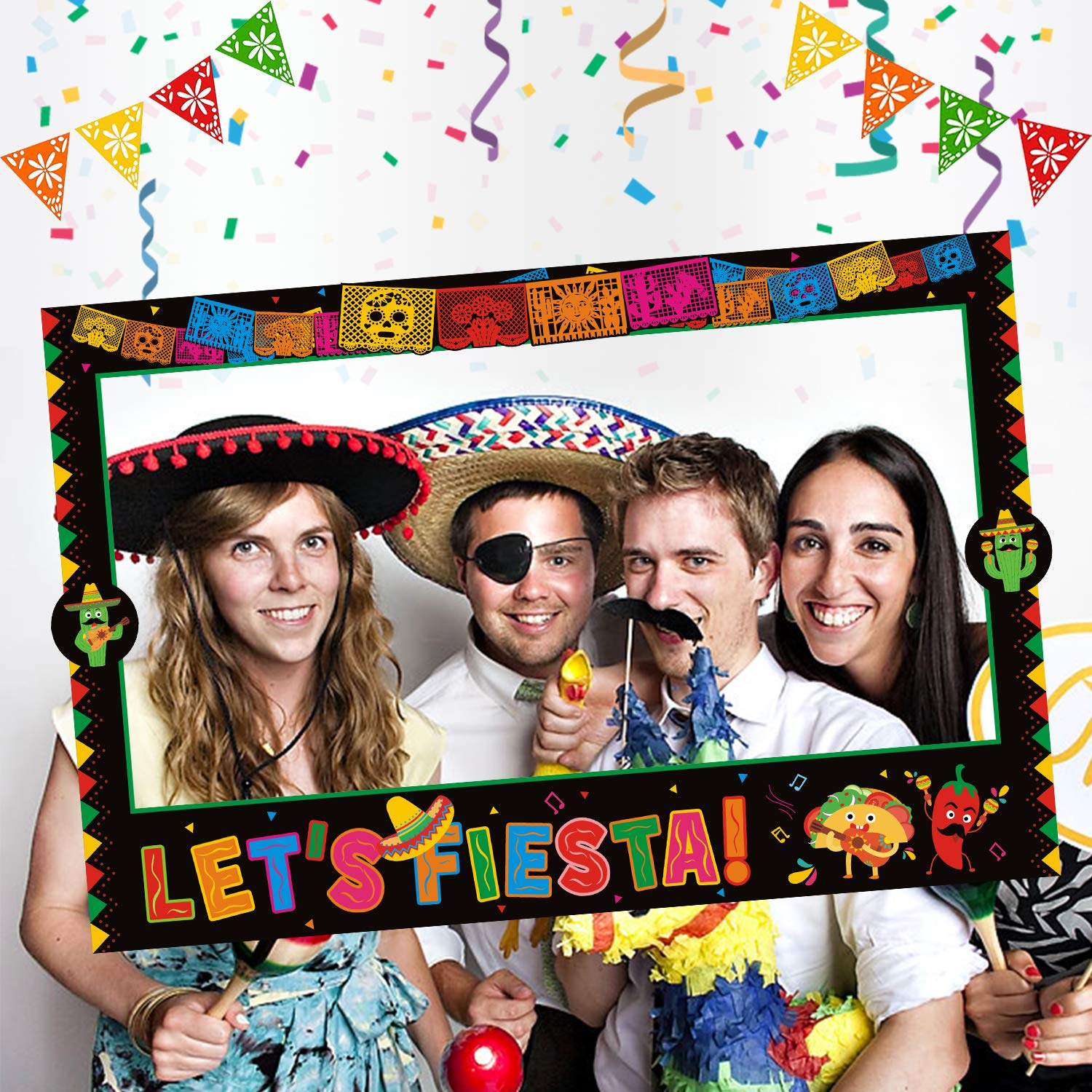Mexican theme photo booth Fiesta Photo Booth