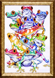 Design Works Crafts Tobin RZ09-01953E72-R3U1 Frog Pile Counted Cross Stitch Kit-11