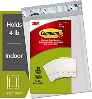 Command Picture Hanging Strips, Small, White, 18-Pairs
