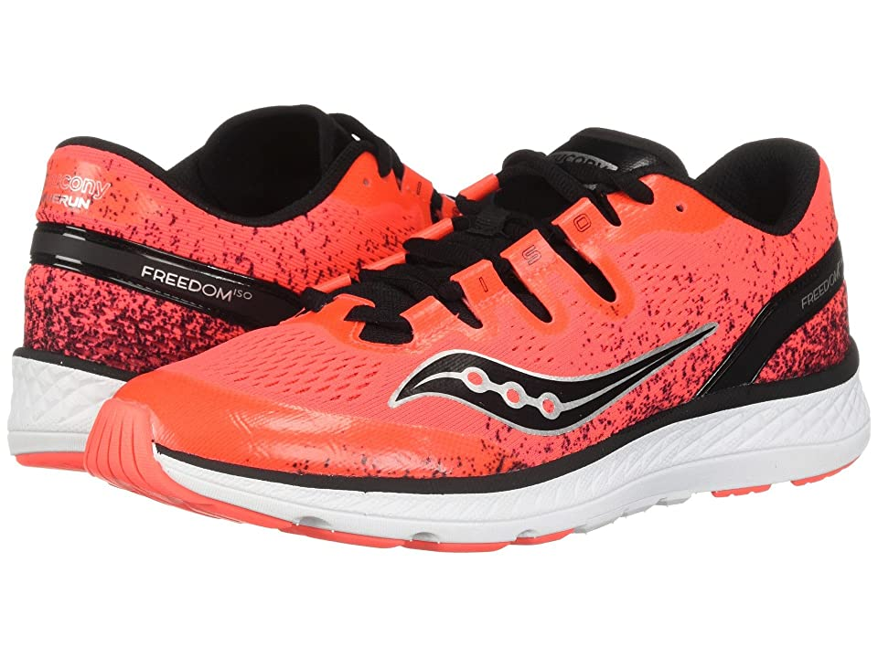 Saucony Kids Freedom ISO (Little Kid/Big Kid) (Vizi Red/Black) Boys Shoes