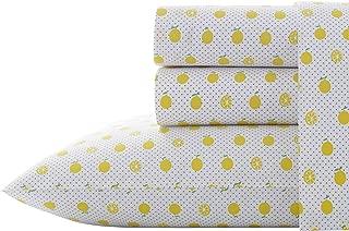 Poppy & Fritz Lemons Sheet Set, Queen, Bright Yellow