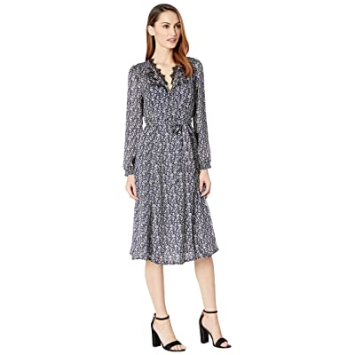 Lucky Brand Printed Wrap Dress (Navy Multi) Women