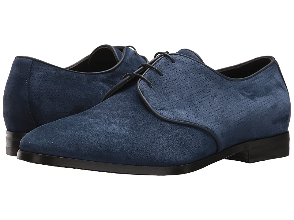 Canali Perforated Suede Oxford (Blue) Men